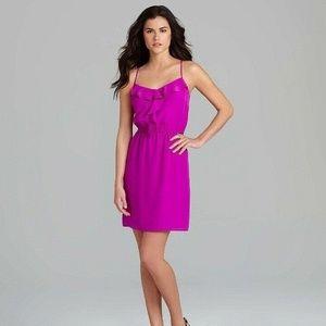 Gianni Bini Purple Dress Sz L Large Bright Mauve